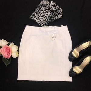 (NEW). Express White Pencil Skirt,Size:6
